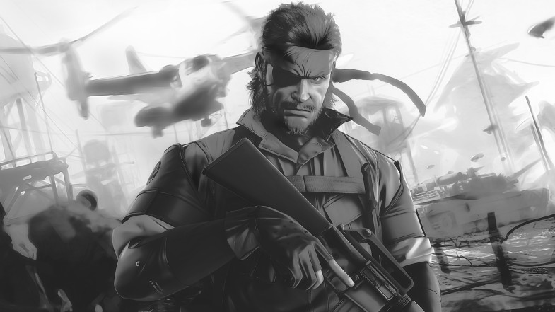 video-games-metal-gear-solid-monochrome-artwork-peace-walker-big-boss-wallpaper-1
